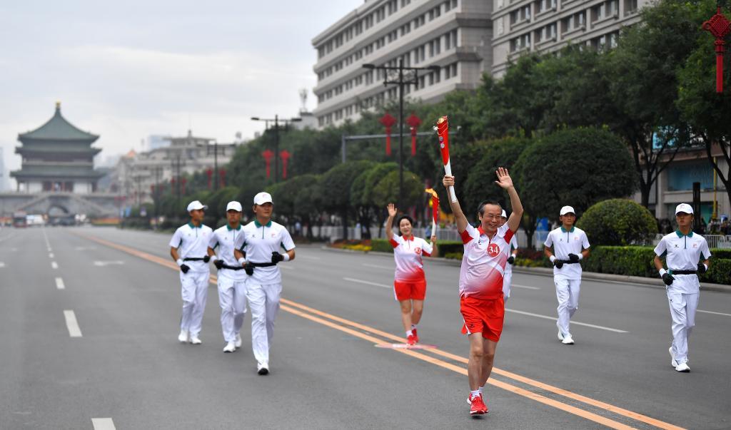 十四運會和殘特奧會火炬正式在陜西傳遞